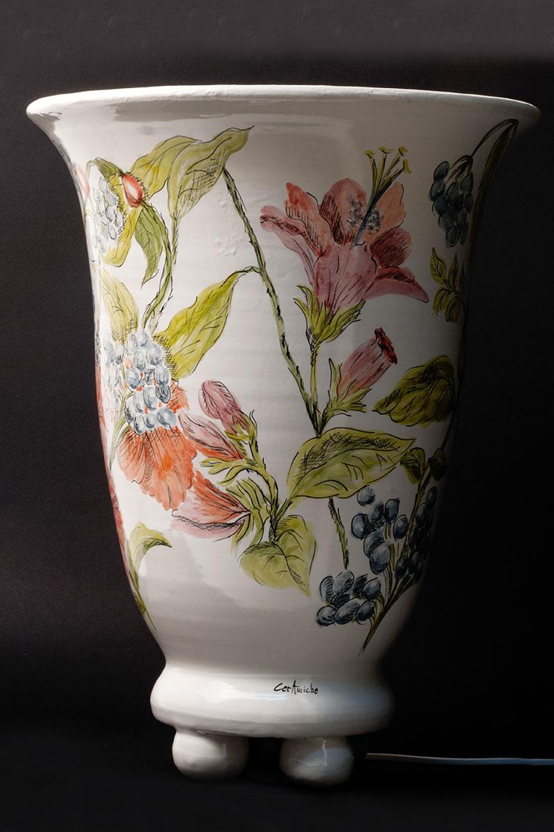 Lampade Ceramica Vietri: Lume lampada ceramica vietri rose idea regalo casa cucina capodimonte.